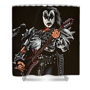 Gene Simmons Of Kiss Shower Curtain