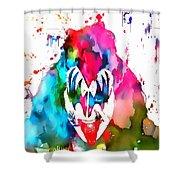 Gene Simmons Paint Splatter Shower Curtain