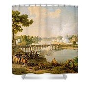 General Bonaparte Giving Orders At The Battle Of Lodi Shower Curtain