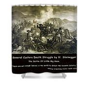 General Custers Death Struggle Shower Curtain