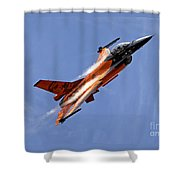 General Dynamics F-16am Fighting Falcon Shower Curtain