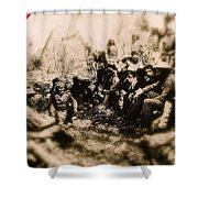 General George R. Crook Negotiating With Geronimo  1886-2008 Shower Curtain