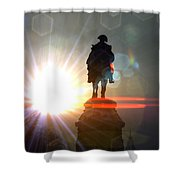 General In Sunrise Flares Shower Curtain