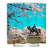 General In The Blossoms Shower Curtain