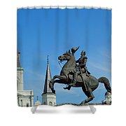 General Jackson Statue Shower Curtain