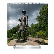 General K Warren Monument Gettysburg Shower Curtain by James Brunker