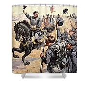 General Mcclellan At The Battle Shower Curtain by Henry Alexander Ogden