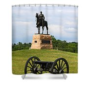 General Meade Monument And Cannon Shower Curtain by James Brunker