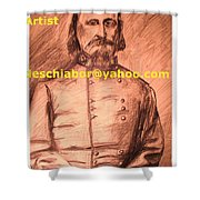 General Pickett Confederate  Shower Curtain
