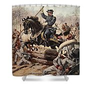 General Sheridan At The Battle Of Five Shower Curtain