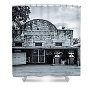 General Store In Independence Texas Bw Shower Curtain