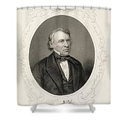 General Zachary Taylor, From The History Of The United States, Vol. II, By Charles Mackay, Engraved Shower Curtain