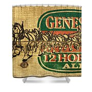 Genesee 12 Horse Ale Shower Curtain