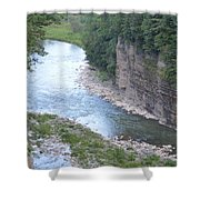 Genesee River In Grand Canyon Of East Shower Curtain