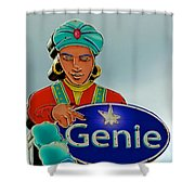 Genie Neon Sign Shower Curtain