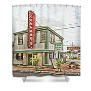 Gennaro's Shower Curtain by Scott Pellegrin