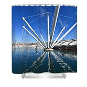 Genova - Porto Antico Shower Curtain