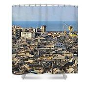 Genova. Panoramic View Shower Curtain