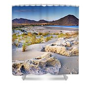 Genoveses Beach At Sunset Shower Curtain