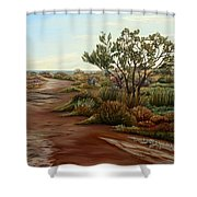 Genoveses' Walk Shower Curtain