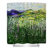 Gentle Shadows Shower Curtain
