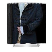 Gentleman In 18th Century Clothing Shower Curtain