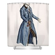 Gentleman In Blue Coat, Plate Shower Curtain