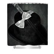 Gentleman Shower Curtain by Joana Kruse