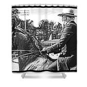 Gentleman Rider Shower Curtain