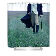Gentleman Walking In The Country Shower Curtain