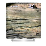 Gently Gliding Water Abstract Shower Curtain