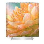 Gently Textured Dahlia  Shower Curtain