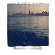 Gently The Evening Comes Shower Curtain