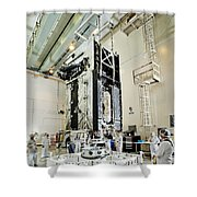 Geo-1 Satellite In Lab Shower Curtain