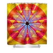 Geo-cosmic Sri Yantra Shower Curtain