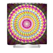 Geo Master Eleven Kaleidoscope Shower Curtain by Derek Gedney