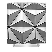 Geodesic Pyramids Shower Curtain