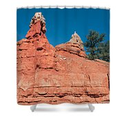 Geological Forces At Red Canyon Shower Curtain