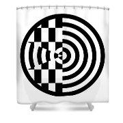 Geomentric Circle 3 Shower Curtain