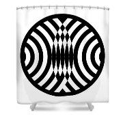 Geomentric Circle 4 Shower Curtain