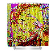 Geometric Abstractions Artwork Colorful Cool Creations Designer Phone Cases 121 Carole Spandau  Shower Curtain