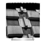 Geometric Building Shower Curtain
