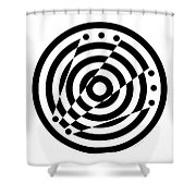 Geometric Circle 6 Shower Curtain