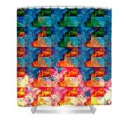 Geometric Cloud Cover Shower Curtain