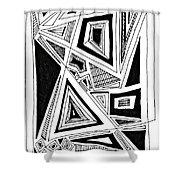 Geometric Doodle 2 Shower Curtain by Sarah Loft