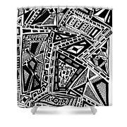 Geometric Doodle Shower Curtain