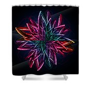 Geometric Flower  Shower Curtain