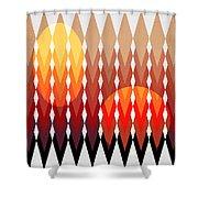 Geometric Fun Shower Curtain by Mark Ashkenazi