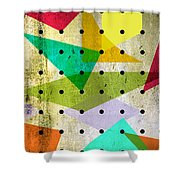 Geometric In Colors  Shower Curtain by Mark Ashkenazi