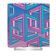 Geometric  Shower Curtain by Mark Ashkenazi